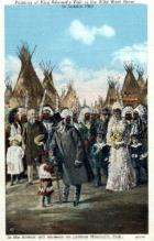 ind000035 - Painting of King Edward's Visit to the Wild West Show in london 1903, Indian, Indians, Postcard Postcards