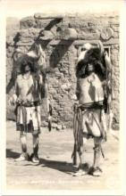ind000124 - Indian Buffalo Dancers, Arizona USA, Indian, Indians Postcard Postcards