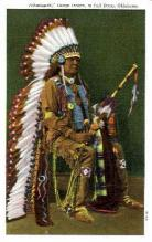 ind000282 - Pahsetopah, Osage Indian, Oklahoma USA, Indian, Indians Postcard Postcards