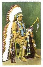 ind000323 - Osage Indian in full dress, Oklahoma, Indian, Indians Postcard Postcards