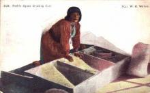 ind000342 - Pueblo Squaw Grinding Corn, Indian, Indians Postcard Postcards