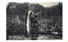 ind000361 - Camp Traditions Told, Boy Scout Summer Camp, Teton Peaks Council, BSA Idaho Falls, Idaho, Indian, Indians Postcard Postcards