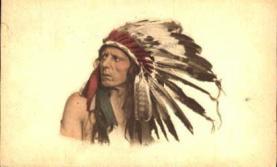 ind000367 - Indian, Indians Postcard Postcards