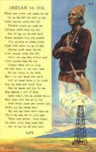ind000385 - Indian vs. Oil Indian, Indians Postcard Postcards