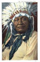 ind000386 - Arapahoe Indian Chief Indian, Indians Postcard Postcards