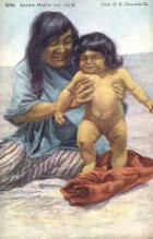 ind000395 - Apache Mother and Child Indian, Indians Postcard Postcards