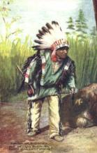 ind000402 - Hiawatha & Mudjekeewis Indian, Indians Postcard Postcards
