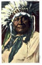 ind000404 - Arapahoe Indian Chief Indian, Indians Postcard Postcards