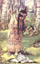 ind000406 - Back of card says Dairymen Ten Commandments,  Indian, Indians Postcard Postcards