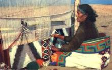 ind000443 - Navaho Rug Weaver,  Indian, Indians Postcard Postcards