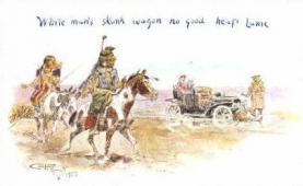 ind000446 - Indian, Indians Postcard Postcards
