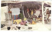 ind000447 - Navajo Blanket Weaver Indian, Indians Postcard Postcards