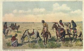 ind000470 - First Santa Fe Train,  Indian Postcard Postcards
