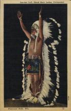 ind000485 - Indian ceremont,Wisconsin, Sall.Wis Indian, Indians Postcard Postcards