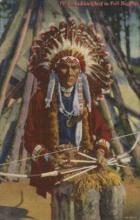 ind000488 - Full Regalia Indian, Indians Postcard Postcards