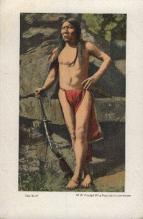 ind000499 - The wolf Indian, Indians Postcard Postcards