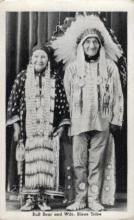 ind000511 - Bull Bear and Wife Sioux Tribe Indian, Indians Postcard Postcards
