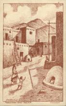 ind000529 - Pueblo Street scencr Indian, Indians Postcard Postcards