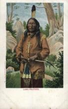 ind000548 - Long Feather Indian, Indians Postcard Postcards