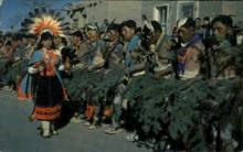 ind000566 - Corn Maiden Dance-San Juan Pueblo, New Mexico,USA Indian, Indians Postcard Postcards