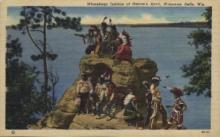ind000596 - Winnebago Indians, Wisconsin, Dells, Wis, USA Indian, Indians Postcard Postcards