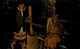 Log cabin exhibit