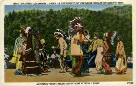 ind000607 - Great Smoky Mountain National Park Indian, Indians, Postcard Postcards