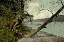 ind000608 - Gravelly point, Otsego Lake, NY, New York, USA Indian, Indians, Postcard Postcards