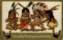 ind000612 - Thanksgiving Greetings Indian, Indians, Postcard Postcards