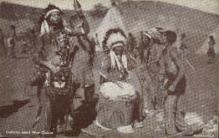 ind000614 - Indians start war dance Indian, Indians, Postcard Postcards