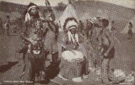 ind000614 - Indians start war dance Indian, Indians, Postcard Postcards