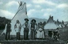 ind000622 - The red man's home, Flathead Reservation Indian, Indians, Postcard Postcards