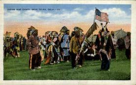 ind000631 - war dance, Near Tulsa, Oklahoma, USA Indian, Indians, Postcard Postcards
