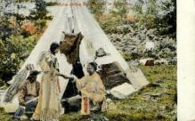 ind000633 - Minnehaha giving Refreshment to Hiawatha Indian, Indians, Postcard Postcards
