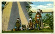 ind000635 - Dells of the Wisconsin Rover Indian, Indians, Postcard Postcards