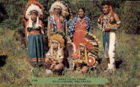 ind000637 - Englewood, Colorado, USA Indian, Indians, Postcard Postcards