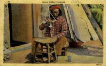 ind000640 - Indian drilling Turquoise Indian, Indians, Postcard Postcards