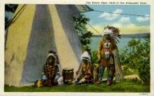 ind000659 - Dells of the Wisconsin Rover Indian, Indians, Postcard Postcards