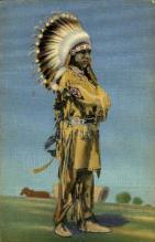 ind000660 - Full regalia, Pueblo dance Indian, Indians, Postcard Postcards
