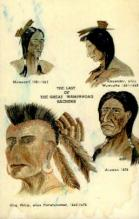 ind000663 - The last of the great wampanoag sachems Indian, Indians, Postcard Postcards