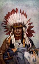 ind000692 - Chief Black thunder Indian, Indians, Postcard Postcards