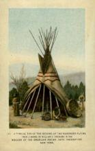 ind000709 - Tipi of the Northern Plains, New York, USA Indian, Indians, Postcard Postcards