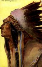 ind000714 - Chief Eagle Feather Indian, Indians, Postcard Postcards