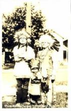 ind100003 - Chief Wa-Wa-Ta-See, Crossvillage, Michigan USA, Real Photo Indian, Indians, Postcard Postcards