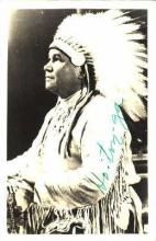 ind100006 - Chief Ho-Ton-Ga, Real Photo Indian, Indians, Postcard Postcards