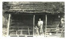ind100029 - Cherokee Indian Home, Cherokee, N.C. USA, Real Photo Indian, Indians, Postcard Postcards