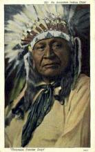 ind200007 - Arapahoe Chief Indian Postcard Post Cards