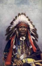 ind200012 - Chief Black Chicken Tucks Indian, Indians, Postcard Post Cards