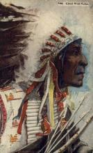 ind200024 - Chief Wolf Robe Indian Postcard Post Cards