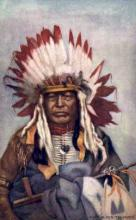 ind200029 - Chief Black Thunder Tucks Indian, Indians, Postcard Post Cards